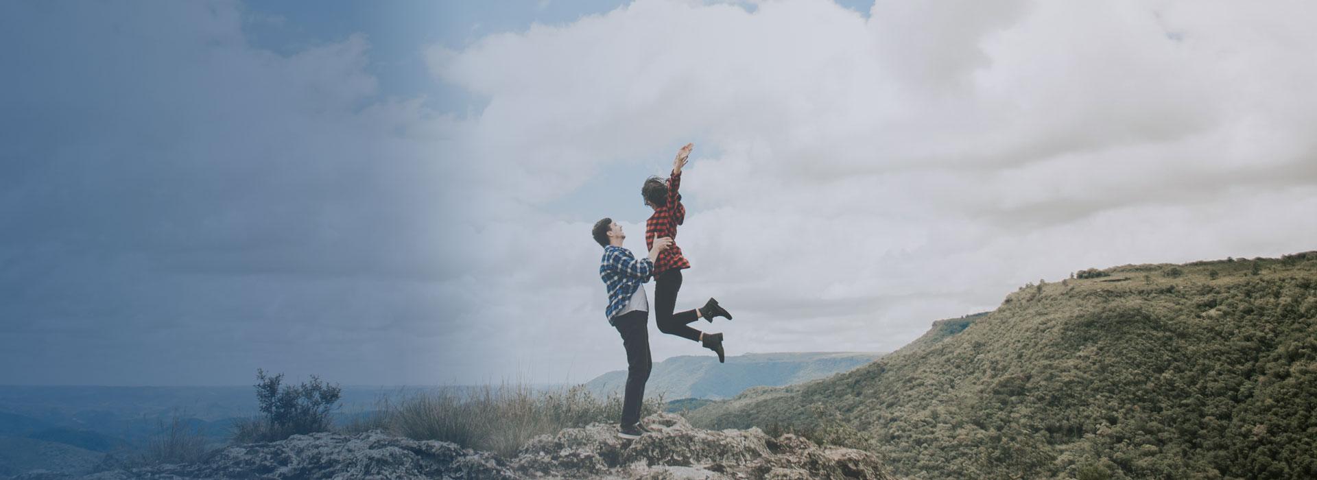 Lykkeligt par uden herpes - herpesfree!
